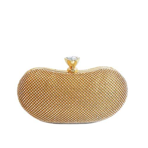 Dazzling Zircon Stone Decorated Minaudiere Handbag
