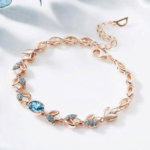 Oval Rhinestone Silver Bracelet