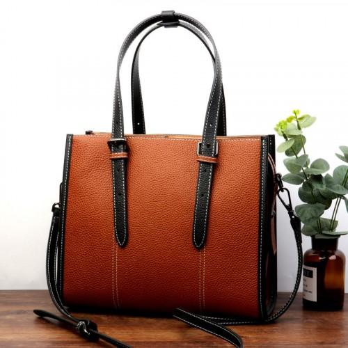 Fashionable Leather Satchel Bag