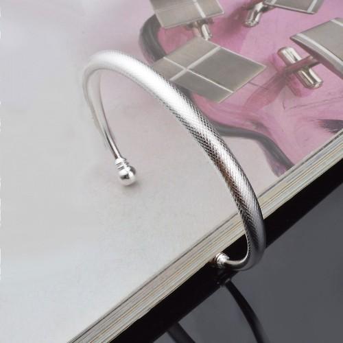 Snake Skin Style Sterling Silver Bracelet
