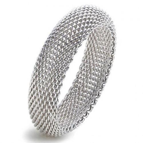 Extensible Silver Net Bracelet